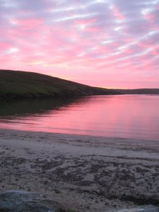 Yell, one of the Shetland islands, land of the 'simmer dim'