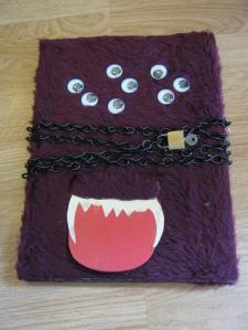 purple googly eyed monster book-small