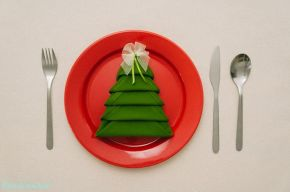 Advent Calendar Day 22 – Christmas Tree Napkin Folding
