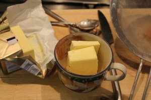 That's about half a cup of butter, isn't it?! (How do you even measure that?!)