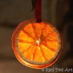 Advent Calendar Day 17 – drying orange slices