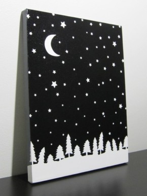 Advent Calendar Day 20 – starry night sky canvas