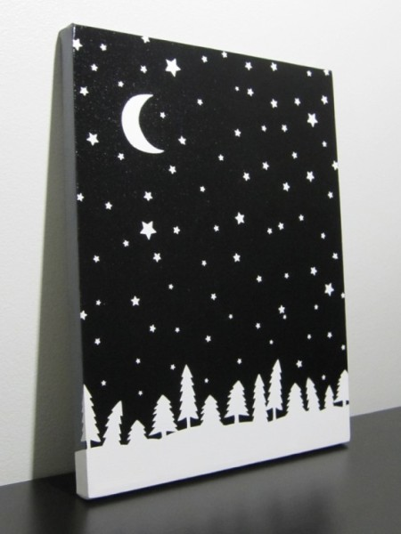 Really stunning canvas and so easy to make!