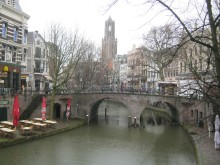 Utrecht - canal and Dom Tower