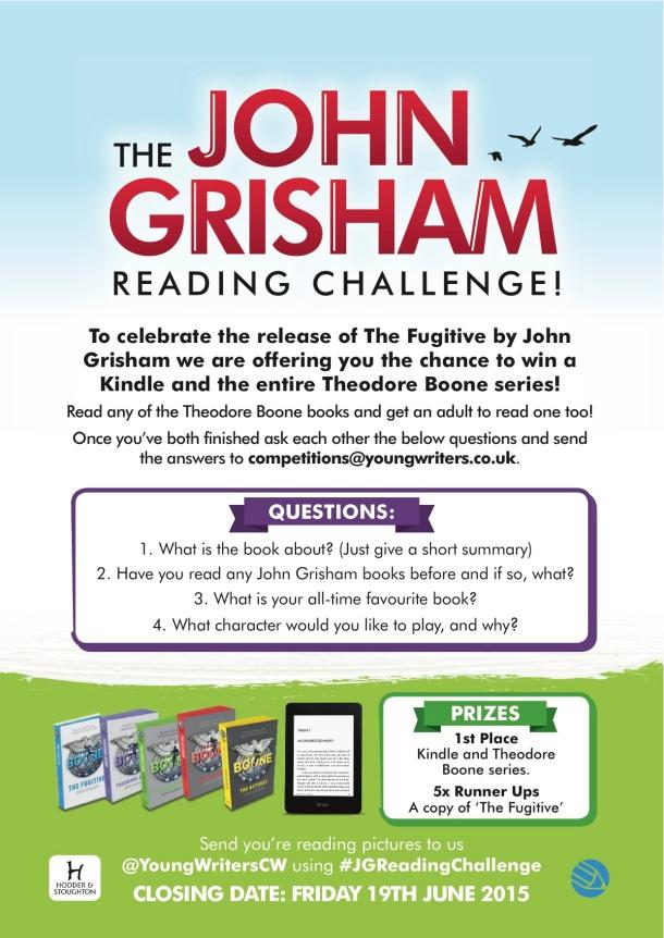 John Grisham Reading Challenge_A4 Poster