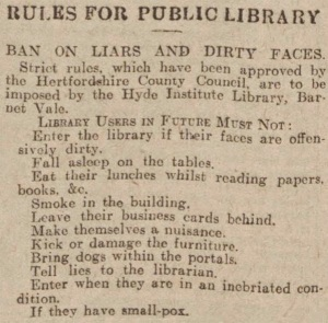 Library rules 1930[1]
