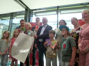 Brighton Rocks Books middle grade children's author panel and Children's Laureate Chris Riddell