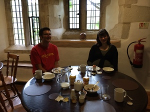 Sally Nicholls and Tim Collins talk writing over breakfast.