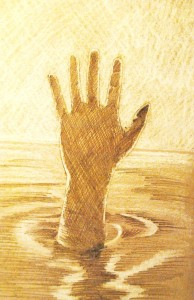 Hand in the river