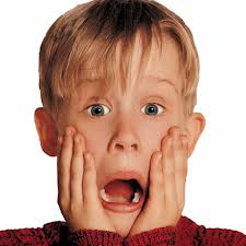 Home alone shocked face