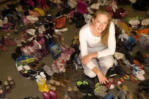 Emily with all the shoes