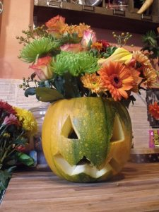 Pumpkins...with flowers!