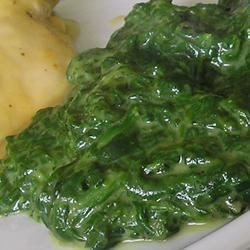 stewed spinach