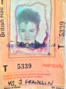 Jo aged 17 Student rail card