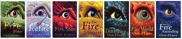 montage of dragon covers