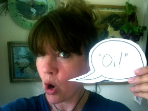 """Oi! Read my shouty writing tips!"" by Karen McCombie"