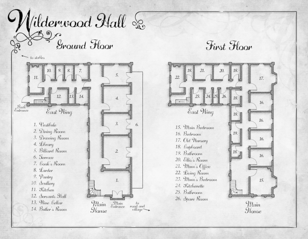 Wilderwood Hall map
